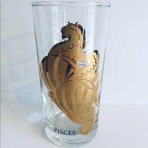 Zodiac glass cup Pisces.